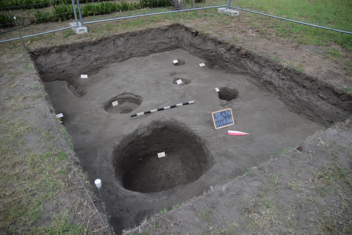 Il SAS 2 nell'hortus dei Praedia Iuliae Felicis, durante lo scavo 2019