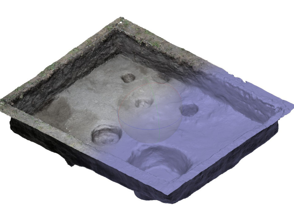 Modello digitale del SAS 2 in corso di scavo
