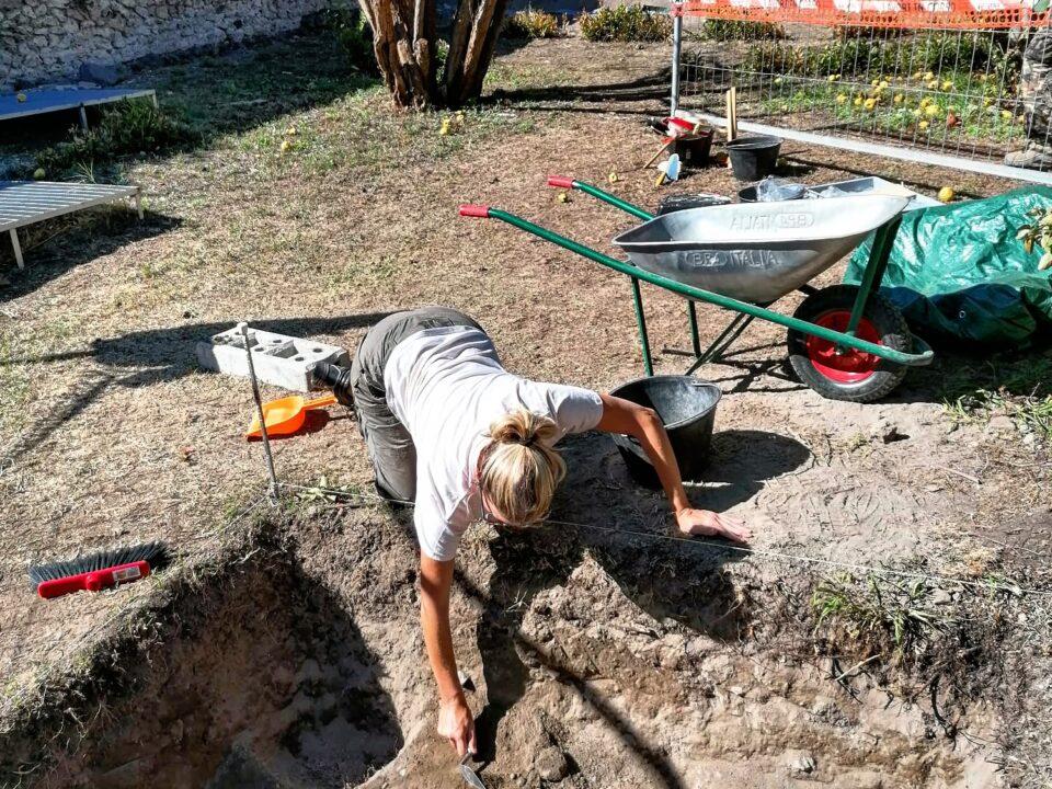 Una fase dello scavo 2020